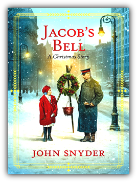 Image: Jacob's Bell book cover snow scene