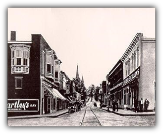 Image: Streets of Meyersdale, PA in early 1900s. The Golden Ring was set in Meyersdale.